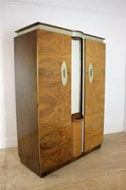 vintage antique furniture wardrobe walnut armoire. mid century retro walnut wardrobe fitted futuristic with mirror in antiques antique furniture armoireswardrobes ebay vintage armoire