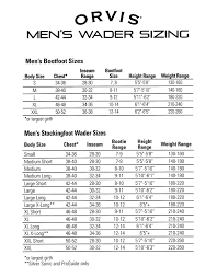 Orvis Mens Size Chart Orvis Mens Encounter Wader Large