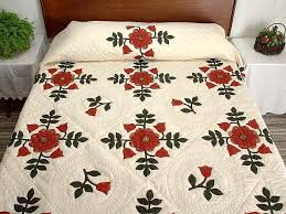 Ohio Rose Quilt -- outstanding well made Amish Quilts from ... & Red and Green Ohio Rose Quilt Photo 1 ... Adamdwight.com