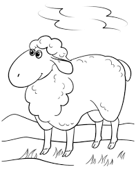 Small Picture Cute Cartoon Sheep coloring page Free Printable Coloring Pages