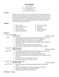 Resume Example: Personal Assistant Resume Examples Resume For .