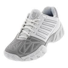 K Swiss Juniors Bigshot Light 3 Tennis Shoe White Silver