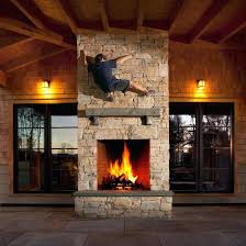 see through wood burning fireplace double sided
