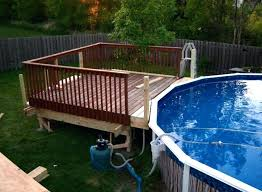 2 Above Ground Pool Decks Designs Pools Deck Within  Ideas Decorations