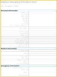 Employee Emergency Contact Information Template Employee Details Form Template Emergency Contact Forms