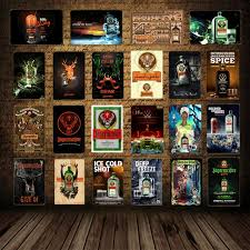Home bar decor Black Alcohol Drink Jagermeister Deer Head Poster Classic Wall Sticker Home Bar Decor Vintage Metal Plaque Whiskey Wine Tin Sign Yd002 Aliexpresscom Alcohol Drink Jagermeister Deer Head Poster Classic Wall Sticker