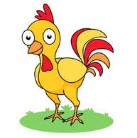 chicken clipart. Fine Chicken Yellow Rooster Clipart Size 73 Kb Intended Chicken Clipart A