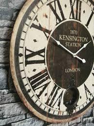clocks extra large wooden wall clock decorative large vintage wall clock