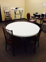 4 wood chiavari chairs around 48 inch table