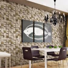 china wholesale cheap price natural stone designs pvc washable 3d