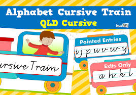 Queensland Cursive Alphabet Chart Alphabet Cursive Train Qld Cursive Teacher Resources