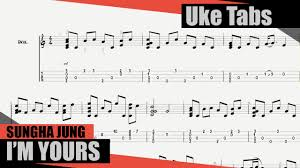 I M Yours Ukulele Strumming Pattern Stunning Sungha Jung Im Yours [Ukulele Tutorial] Tablature YouTube