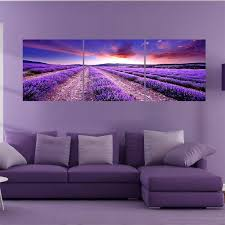 2018 3 panel canvas wall art cuadros wall pictures for living room picture lavender flower paintings modern cuadro no frame painting from wallstickerworld