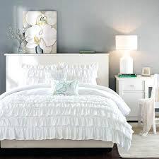 light grey ruffle bedding beautiful white comforter sets intelligent design waterfall set ruffle light gray light grey ruffle bedding