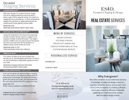 Evergreen Staging And Design Evergreen Staging Real Estate Services Trifold Brochure By