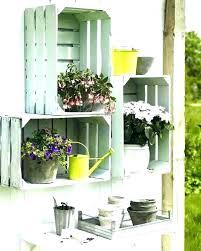 outdoor garden shelves plant shelf crate stands shelving ideas es o outdoor plant shelf