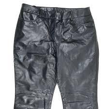 womens black leather pants express genuine 7 8 las