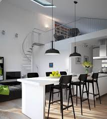 Small Apartment Kitchen Apartment Wonderful Small Apartment Kitchen With Black Stools
