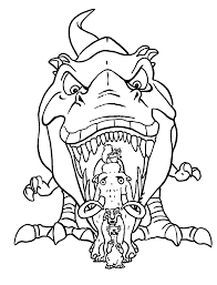Small Picture Dinosaur from Ice age coloring pages for kids printable free
