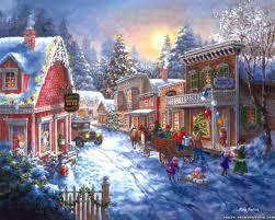 christmas town wallpaper. Plain Christmas Wallpaper Christmas Town Scene Desktop Scene Inside