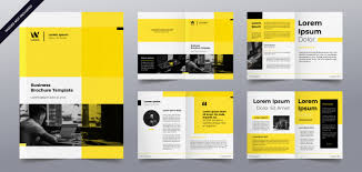 Flyer Template For Pages Business Brochure Pages Template Vector Premium Download