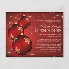 Christmas Open House Invitation Elegant Christmas Open House Invitation Template Zazzle Ca