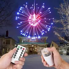 Easy Way Hang Christmas Lights Outdoor Festival Hanging Starburst String Lights 120 Leds Diy