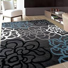 teal blue round area rug bungalow rose crosier grey light reviews in gray rugs within