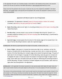 Recording Contract Template Magnificent Recording Contract Template Photos Documentation 17