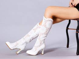 handmade white lace flowers wedding boots victorian lace boots Victorian Wedding Boots For Sale handmade white lace flowers wedding boots victorian lace boots bridal lace shoes bridesmaid shoes boots transparent Victorian Ladies Boots