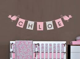 kids name decal bunting flags custom girls name personalized nursery wall decor on personalized wall decor for nursery with kids name decal bunting flags custom girls name personalized nursery