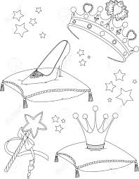 Small Picture Beautiful Princess Collectibles Coloring Page Royalty Free