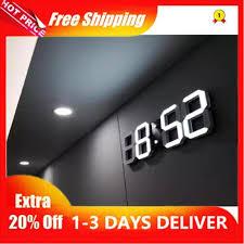 ready stock 3d led wall clock modern