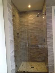 perfect frameless shower glass door for small space