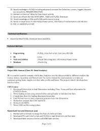 Oracle Pl Sql Developer Resume Foodcityme Simple Resume For Oracle Developer