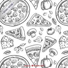 italian restaurant clipart black and white. Perfect And Pizza Drawings Pattern With Italian Restaurant Clipart Black And White N