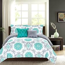 black and white paisley comforter set bedroom turquoise grey bedding modern brown leather headboard pattern wallpaper
