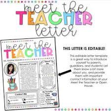 Meet The Teacher Letter Templates Meet The Teacher Template Editable Back To School Night