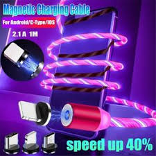 Flowing Light LED Magnetic Cable Micro USB Cable Fast ... - Vova