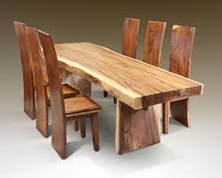 New Real Wood Dining Table With Lovely Decoration Real Wood Dining