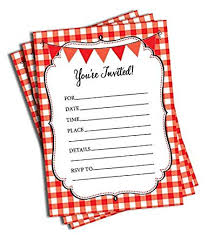 Amazon Com 50 Red And White Party Invitations And Envelopes Large