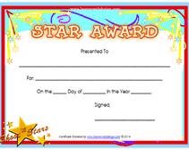 Star Student Certificates Printable Super Star Award Certificates Templates