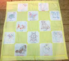 Monogrammed Baby Quilts Embroidered Baby Quilts Sale Embroidered ... & ... Vintage Baby Blanket Cot Quiltembroidered Hand Embroidery Baby Quilts  Embroidered Baby Quilt Blocks Embroidered Baby Quilts ... Adamdwight.com