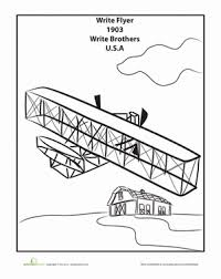 Wright Brothers Coloring Page Wwwpicturessocom