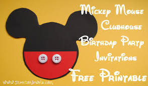 mickey mouse party invitation director jewels mickey mouse clubhouse diy birthday party