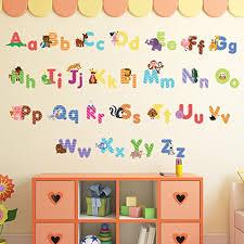 animal alphabet wall decals kids
