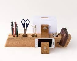 large desk organizer wood office organizer desk storage august 175 00 via