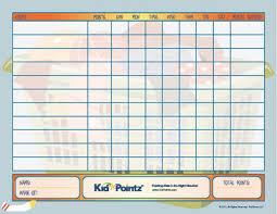 Points Chart For Children Www Bedowntowndaytona Com