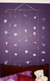 marvelous wall decoration with valentine craft hanging hearts fabulous wall decoration with paper