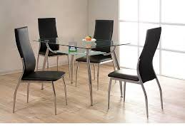 gl chrome dining table and 4 chairs